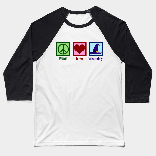 Peace Love Wizardry Baseball T-Shirt